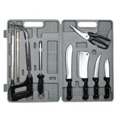 8 Piece Stainless Steel Meat Processing Knife And Tool Set
