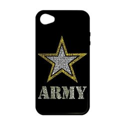 Jdsitem Creative Letter Army Star Design Case Cover Sleeve Protector For Phone Iphone 4/4S (Laser Technology)