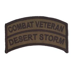 """Operation Desert Storm - Gulf War - Combat Veteran Patch - 2"""" X 3 1/2"""" Od Tab With Wax Backing And Merrowed Edge"""