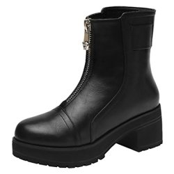 Guciheaven Winter New Style Casual Mid Heel Women'S Boots Knight (5.5 B(M)Us, Black)