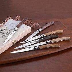 Laguiole Mixed Woods 6 Piece Knife Set