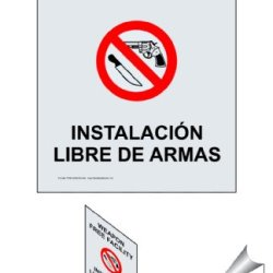 Compliancesigns Clear Vinyl Weapons Restricted Label, 7 X 5 With English + Spanish, Front Adhesive