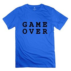 Game Over Cool Man T Shirt Size Xs Color Royalblue