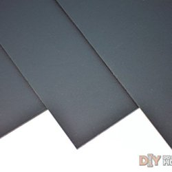 """Kydex T, P1 Haircell Finish, 8"""" X 12"""" X .080"""", Black, 2 Sheets"""