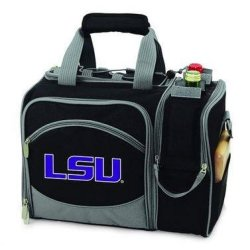 Lsu Fighting Tigers Malibu Insulated Picnic Shoulder Pack/Bag - Navy W/Embroidery