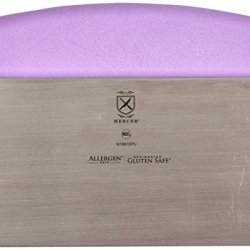 """Mercer Culinary M18810Pu Millennia Bench Scraper With Purple Handle, 6"""" By 3"""", Stainless Steel, Purple"""
