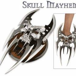Mc-2091 Skull Mayhem Iii Fixed Knife Dagger Steel Metal Blade