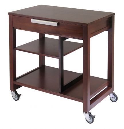 Picture of Comfortable Antique Walnut Computer Cart - Winsome 94032 (B005PZ6YHI) (Computer Carts)