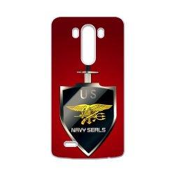 Jdsitem U.S. Navy Seals Simple Red Pattern Case Cover Sleeve Protector For Phone Lg G3 (Laser Technology)