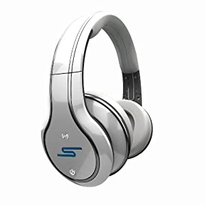 SYNC by 50 Cent Wireless Over-Ear Headphones - White by SMS Audio