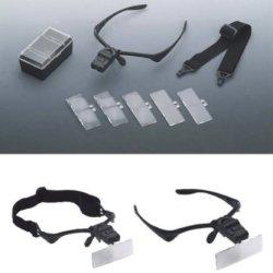 Illuminated Multi-Power Head Magnifier Glasses