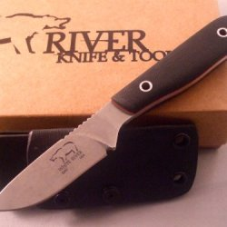White River Knife & Tool Scout Hunting Knife Black G-10 Handle Wrsct-Blkg10