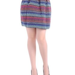 Anna-Kaci S/M Fit Multicoloured Knife Pleats Horizontal Desert Inspired Skirt