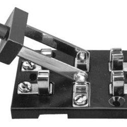 Dpdt Knife Switch Center Off - 200V - 3A
