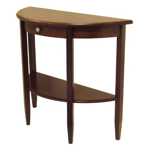 Image of Concord Hall / Console Table, Half Moon with Drawer, Shelf Concord Hall / Console Table, Half Moo (PRA4156694)