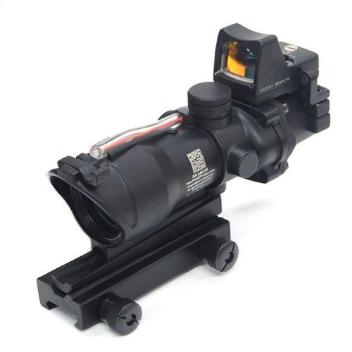 RMR搭載!Trijiconタイプ ACOG TA31 ECOSレプリカ【BK】 集光式レティクル発光モデル (シリアルコード刻印入)