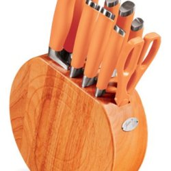 Fiesta Tangerine 11-Piece Cutlery With Block