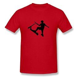 Male Stunt Scooter Online T Shirts Size M Color Red