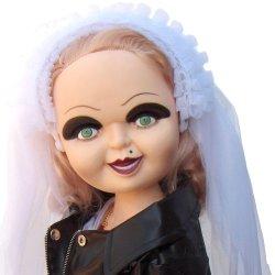 """Bride Of Chucky 26"""" Tiffany Plush Doll In Wedding Dress & Knife"""