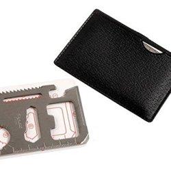 Pocket Survival Tool,Mini Work Tool,Pocket Survival Tool ,Multi-Purpose Ranger Tool , Survival Pocket Tool, Credit Card Survival Aid - 12 Unique Features Includes Storage Case