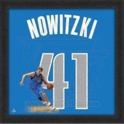 Dirk Nowitzki Dallas Mavericks 20X20 Framed Uniframe Jersey Photo