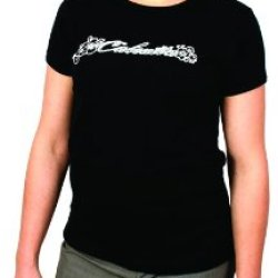 Calcutta Women'S Ladies Short Sleeve Tee (Black, Small)