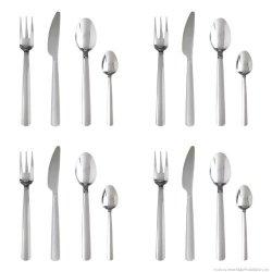 Ikea Bonus 16-Piece Flatware Set, Stainless Steel