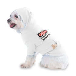 Warning Beware Of The Ravens Fan Hooded (Hoody) T-Shirt With Pocket For Your Dog Or Cat Xs White