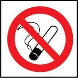 No Smoking Symbol Sign. Self Adhesive Vinyl. 100 X 100Mm.