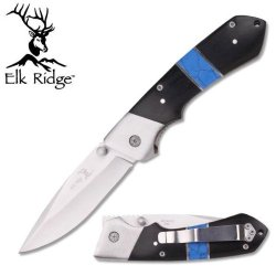 Elk Ridge Turquoise / Hardwood Er098 - Pocket Knives