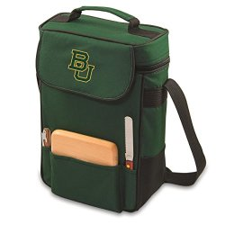 Collegiate - Duet Insulated Wine And Cheese Tote Baylor University Bears/Hunter Green/Embroidered