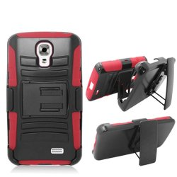 Phone Case For Lg Access Lte Red Edge Cover Kickstand Combo Holster Belt Clip L31G