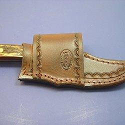 Custom Leather Cross Draw Knife Sheath For Schrade Sharp Finger Or Bear Mgc