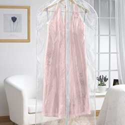 Extra Long Dress Cover Clear With White Trim (Set Of 2)