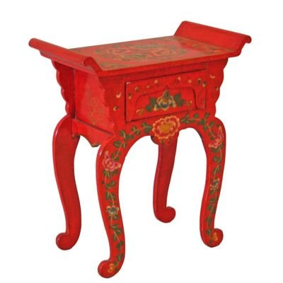 Image of Handmade Tibetan Crimson Console Table (V76643)