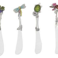 Ganz Zinc Spreaders Set, Turtle, Dragonfly, Bird And Grapes