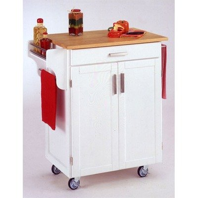 Image of Kitchen Cart with Wood Top (9001-0021)