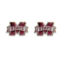 Mississippi State Bulldogs Post Stud Logo Earring Set Charm Gift