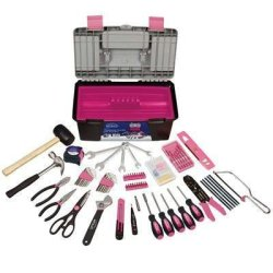170 Pc Tool W Pink Tool Box (Please See Item Detail In Description)