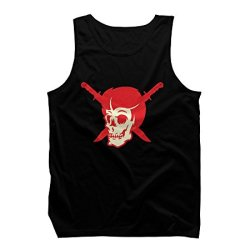 Skull And Dagger Men'S 2X-Large Black Graphic Tank Top - Design By Humans