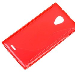 Silicon Case For Dg550 Anti-Knock Protective Back Case Cover For Doogee Dagger Dg550 (Red)