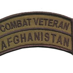 "2"" X 3 1/2"" Afghanistan Combat Veteran Od Tab - Wax Backing With Merrowed Edge - Operation Enduring Freedom."