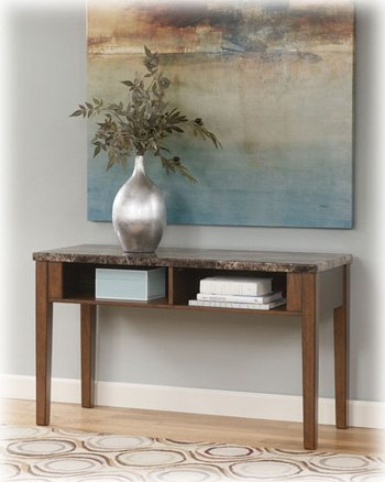 Image of Warm Brown Console Sofa Table - Signature Design by Ashley Furniture (T158-4)