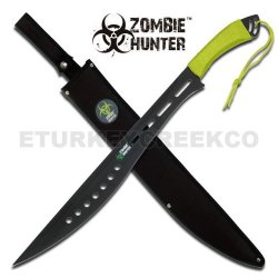 "Zb-012 "" 7Ofcu Zombie Hunter "" Full Stdo4Ccyy9 Tang Heavy Duty Machete 25"" Overall Ayeuiu56 Hlbv23Rt "" Zombie Hunter "" Heavy Duty All Black Km8U7Engv Stainlee Steel Full Tang Blade. 6C1Eo Green Fiber Handle Includes Nylon Carrying Case 25"" Overall"