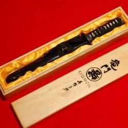 Handmade Damascus Japanese Dragon Samurai Tanto Sword W/ Collector Box