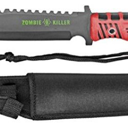 """13"""" Zombie Killer Hunting Knife - Red Handle"""