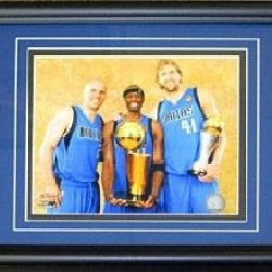 Dirk Nowitzki Jason Kidd & Jason Terry Framed Unsigned 8X10 Photo - Nba Photos