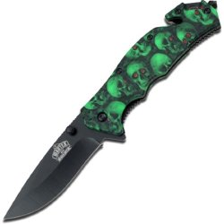 Master Usa Mu-A001Gnsc Spring Assisted Knife, 4.5-Inch Closed