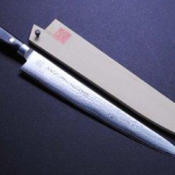 """Yoshihiro Vg10 33 Layers Damascus Sujihiki Slicer Japanese Sushi Sashimi Chef Knife 10.5"""" (270Mm)"""