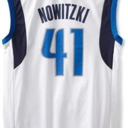 Nba Dallas Mavericks Dirk Nowitzki Home Replica Jersey White, X-Large